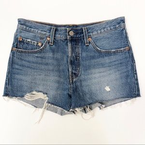 Levis 501 26 Cutoff Denim Shorts High Waisted